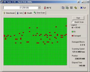 Hasil Scan Hardisk dengan HDD Tune