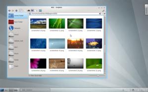 Tampilan DE KDE