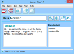 Kamus Plus di Windows.