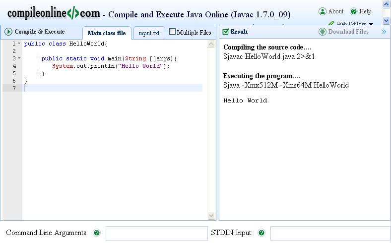 Compiler Online Berbagai Bahasa Pemrograman