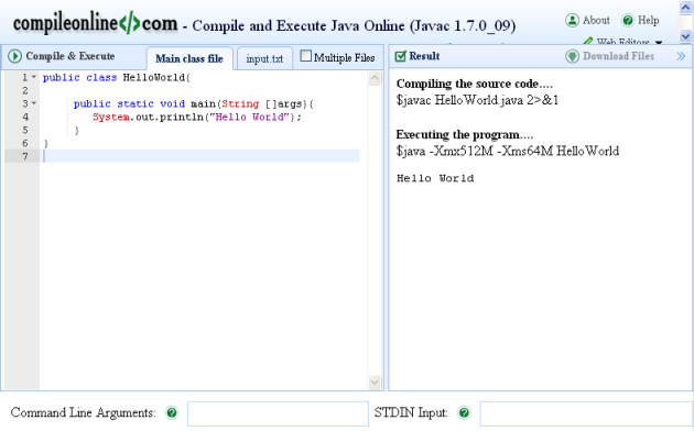 Halaman compile and execute